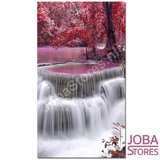 Diamond Painting Rode Waterval 40x60cm_
