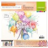 "Aquarelpapier ""Florence"" ivoor smooth 200g 30,5x30,5 (50 stuks)"