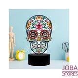 Diamond Painting 3D Illusie Lamp Skull