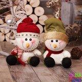OP=OP Pluche Sneeuwpop Groen_