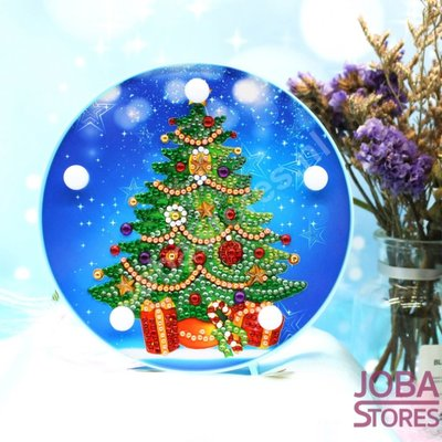 Diamond Painting Lamp Kerst 05 Kerstboom