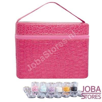 Diamond Painting Beautycase Bewaarkoffer 84 slots Roze