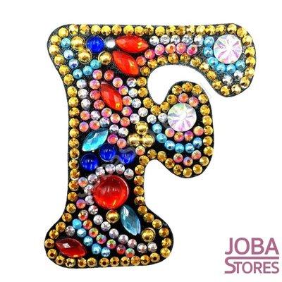 Diamond Painting Sleutelhanger Alfabet Letter F