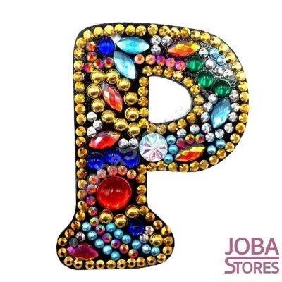 Diamond Painting Sleutelhanger Alfabet Letter P