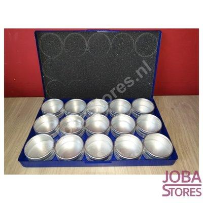 Diamond Painting Aufbewahrungsschalen Aluminium (15 Töpfe groß)