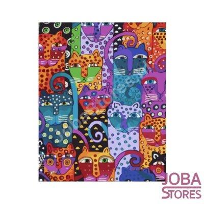 Gemälde nach Anzahl Farbige Katzen 40x50cm