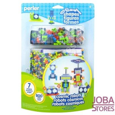 Perlen aufbügeln Cosmic Robots