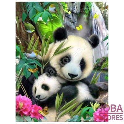 Diamond Painting Panda mit Jungtier 40x50cm