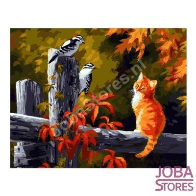 Gemälde nach Nummer Autumn Cat 40x50cm (Color Canvas)