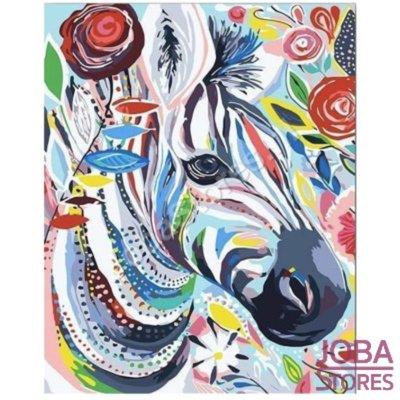 Gemälde nach Nummer Zebra 40x50cm (Color Canvas)