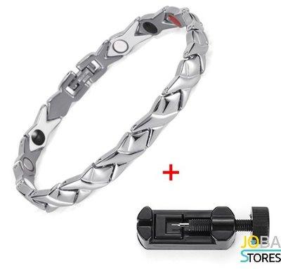 Magneet Armband Adela Zilver