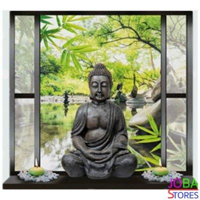 Diamond Painting Buddha in raam 40x40cm