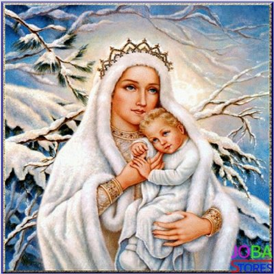 Diamond Painting Moeder Maria 30x30cm