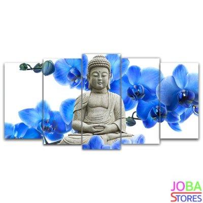 Diamond Painting Buddha Blauwe Orchidee 75x40cm