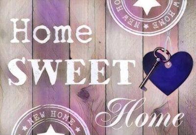 Diamond Painting Home Sweet Home 04 30x40cm