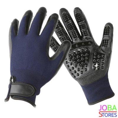 Katten/Honden Grooming Handschoenen Blauw (1 paar)