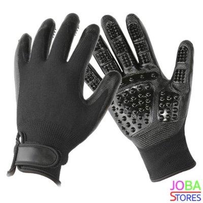 Katten/Honden Grooming Handschoenen Zwart (1 paar)