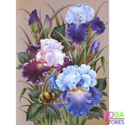 Diamond Painting Bloemen met bijtje 40x50cm