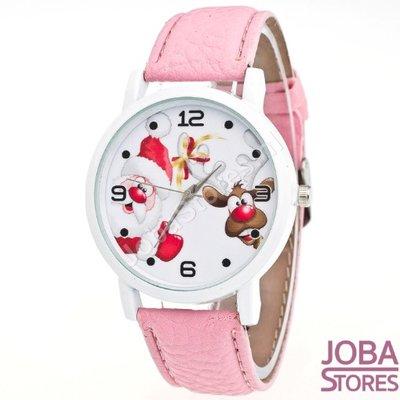 Kerst Horloge 02 Licht Roze