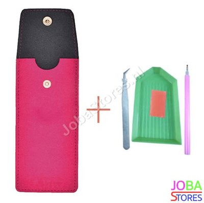 OP=OP Diamond Painting Toolkit Etui + Toolkit (Roze)