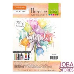 "Aquarelpapier ""Florence"" ivoor smooth 200g A4 (100 stuks)"