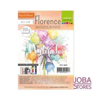 "Aquarelpapier ""Florence"" ivoor smooth 200g A5 (100 stuks)"