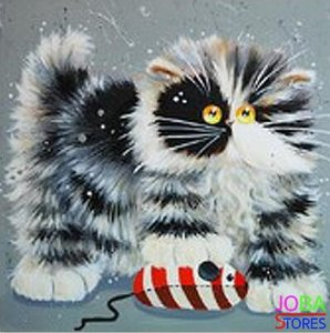 OP=OP Diamond Painting Crazy Cats 03 30x30cm